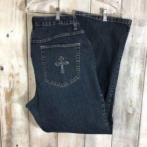 Plus Size 20w Jeans Embellished Pocket